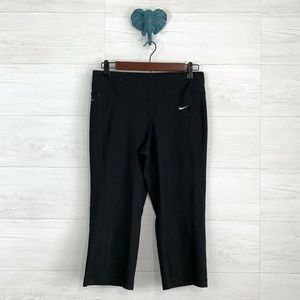 Nike Black Dri-Fit Knee Length Active Pants